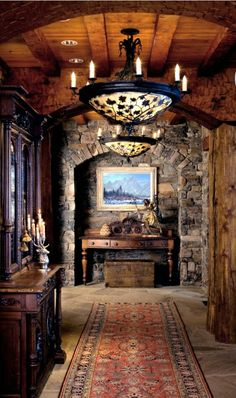 *House ideas- I keep coming back to this, It's just gorgeous! Foyer in Elk View Lodge, Wyoming. Finally found where this is! I wish I had an actual link to this image.