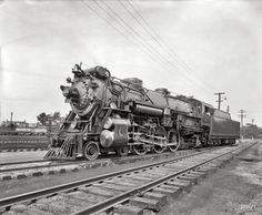 "Alexandria, Virginia, circa 1926. ""American Locomotive Co. -- Southern R.R. Crescent Limited 1396."""