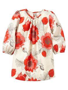 For Vivienne: The Gap Poppy print dress