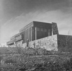 Rose Pauson House. 1942. Phoenix, Arizona. (In 1943, a house fire destroyed the house) Frank Lloyd Wright.