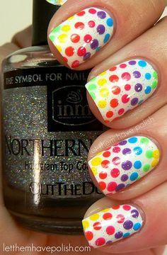 Colored polka dots(: