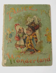 antiqu alic, glass project, alice in wonderland book cover, book covers