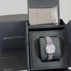david yurman stainless steel 54tcw 25mm mop diamond dial diamond bezel watch davidyurman