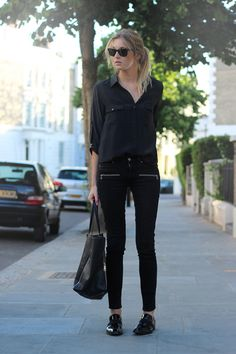 Black Shirt styled by Camille Over The Rainbow.