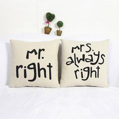 New Home Cotton Linen Mr/Mrs Pillow Case Waist Throw Cushion Case Free Shipping #clothing,#shoes,#jewelry,#women,#men,#hats,#watches,#belts,#fashion,#style