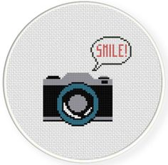 INSTANT DOWNLOAD Stitch Camera PDF Cross by DailyCrossStitch, $2.99