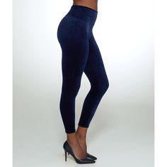 SPANX Flawless Velvet Shaping Leggings ($98) ❤ liked on Polyvore featuring pants, leggings, hosiery, opaque, women, spanx leggings, spanx, white trousers, white slim fit pants and white legging pants