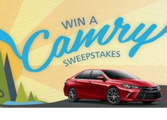 Enter To Win A Brand New Camry!