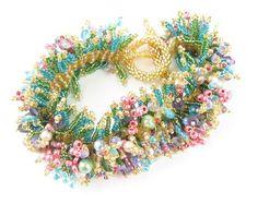 Spring Peyote Stitch Ladder Weave Bracelet