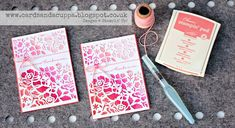 Sarah-Jane Rae cardsandacuppa: Stampin' Up! UK Order Online 24/7: Watercoloured Ombre Effect with Detailed Floral Thinlits by Stampin' Up! with a Video Tutorial!