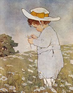She Loves Me, She Loves Me Not, Jessie Willcox Smith (1863 – 1935, American)
