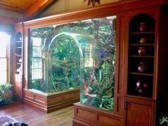 floor aquarium | living room flooring, aquariums and living rooms