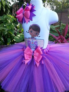 Handmade Doc Mcstuffins  inspired Tutu set  pink by Partyadvantage, $40.00