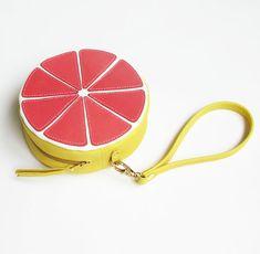 LA LISETTE / Grapefruit Beutel / Handmade / Kreis von LaLisette