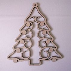 "Material:Baltic Birch, 1/4"" thick. Christmas Tree Wood Shape. Laser Cut. Can be painted, glittered, varnished, stained, etc. Price is for 1 piece. 