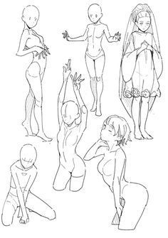 Pose reference head & pose reference drawing, pose r. Body Reference Drawing, Drawing Body Poses, Anime Poses Reference, Female Pose Reference, Anatomy Reference, Poses Manga, Anime Poses Female, Manga Posen, Sketch Poses