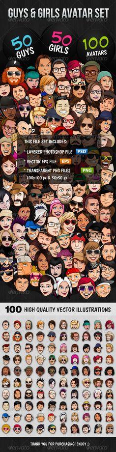 100 Guys & Girls Avatars