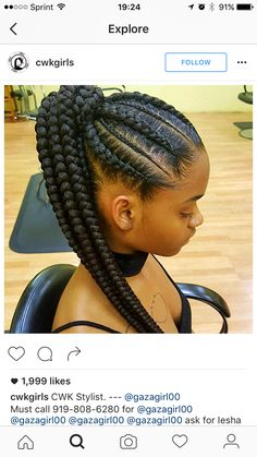 Feed in braids; corn rows; ponytail; black hair; protective style; summer