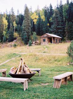 A relaxed, quiet getaway. #Campfire #Cabin
