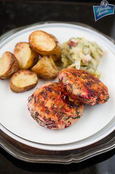 Kotlety z kurczaka i botwinki