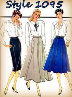 Uncut Sewing Pattern Vintage 1980s Style by mmmsvintagepatterns