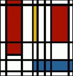 """This work is a combination between art and music; the famous Mondrian piece """"composition with yellow, blue and red"""" moves to the sounds of a song by Eviatar Banai.…"""