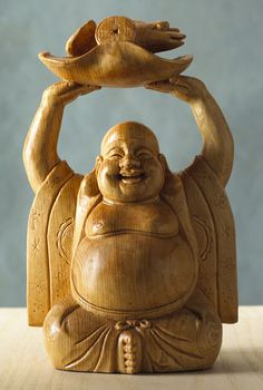 Hand-Carved Wood Buddha, Sculpture, Home Furnishings - The Museum Shop of The Art Institute of Chicago