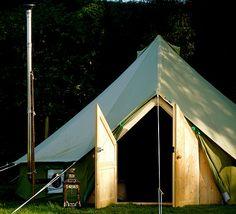 Bell tent with door