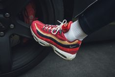 new styles 5c803 2a728 NIKE AIR MAX 95 PREMIUM   RED CRUSH-PROVENCE PURPLE   538416-603 DS TRAINERS