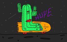 gif cactushuye. photoshop