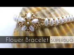 Flower Bracelet with Superduo ~ Seed Bead Tutorials