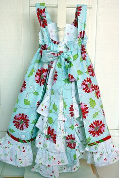 Another Feliz Dress.  This one in a Christmas design.