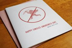 Great anti-valentines day card