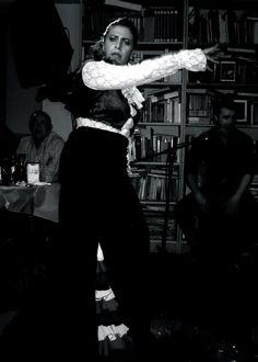 Carmen Zapata en la Peña Flamenca Los Pájaros