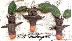 Potter Frenchy Party - Mandrake roots - Mandragora - Harry Potter DIY - racines de mandragore