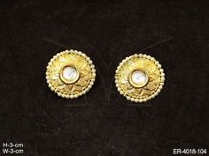 ROUND FLOWER STONE FUSION EARRINGS