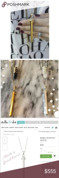 "Jewelry | gold pendant necklace A hinged shiny gold tone prism of fabulousness swings from a delicate metal chain for the perfect simple look // subtle style // can be dressed up or down // measurements are approximately 28"" + 2"" extender (silver option & crystal add ons are not for sale) 3rd photo from s&d website. More photos coming soon for details & spacing. Feels a bit too oversized for me & more rounded than I thought // NWOT condition // like new, only worn at home to decide it's just…"