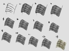 - simple armor Tutorial by MarcelaFreire Digital Painting Tutorials, Digital Art Tutorial, Art Tutorials, Drawing Reference Poses, Art Reference, Metal Drawing, Object Drawing, Metal Art, Manga Drawing Tutorials