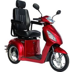 challenger sport 3-wheel fast electric high power mobility scooter red -  genuin top quality