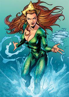 Mera -Wife of Aquaman Arte Dc Comics, Mera Dc Comics, Fun Comics, Comic Book Characters, Comic Character, Comic Books Art, Art Pulp Fiction, Cover Art, Dc Batgirl