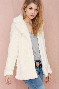 Vintage Faux Fur Jacket with Cashmere Lining