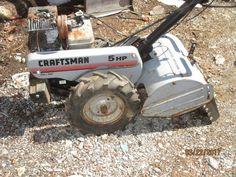 CRAFTSMAN REAR TINE TILLER, 5HP BRIGGS