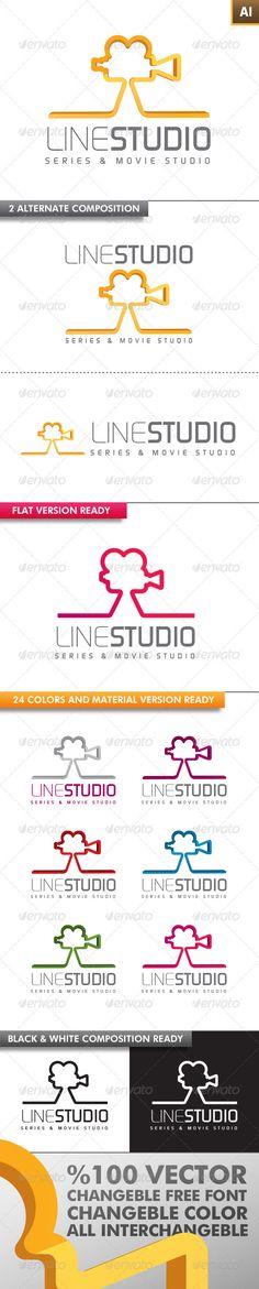 Line Studio Logo — Vector EPS #studio #business • Available here → https://graphicriver.net/item/line-studio-logo/3245594?ref=pxcr
