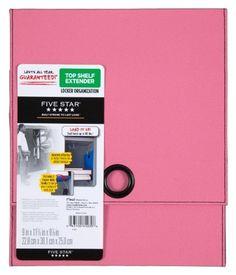 Five Star Locker Shelf Extender, Pink Color: Pink, Model: Office/School  Supply Store