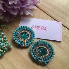 Soutache Necklace, Beaded Earrings, Earrings Handmade, Handmade Jewelry, Boho Jewelry, Jewelery, Jewelry Design, Fashion Jewelry, Women Jewelry