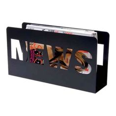 "Magazine/Newspaper Holder 15""W x 4.25"" D x 8""H Black Other"