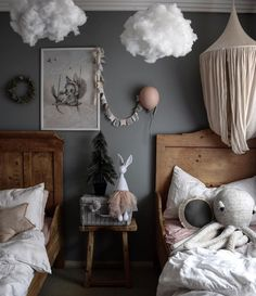 diy home decor bedroom small rooms Kids Room Inspiration Nursery Decor, Bedroom Decor, Ikea Bedroom, Bedroom Furniture, Bedroom Ideas, Bedroom Small, Small Rooms, Cloud Bedroom, Kid Rooms
