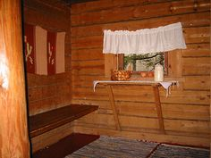 Dressing room in a sauna building. First Home, Log Homes, Dressing Room, Finland, Countryside, Building, House, Furniture, Home Decor