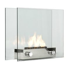 A new sleek glass fireplace is exactly what you'll need to enhance the interior or exterior design of your place. The portable fireplace is made of tempered gla
