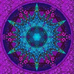 SansTitre by loicsirey Mandala Design, Mandala Art, What Are Fractals, Mandala Painted Rocks, Fractal Art, Sacred Geometry, Rainbow Colors, Psychedelic, Artwork